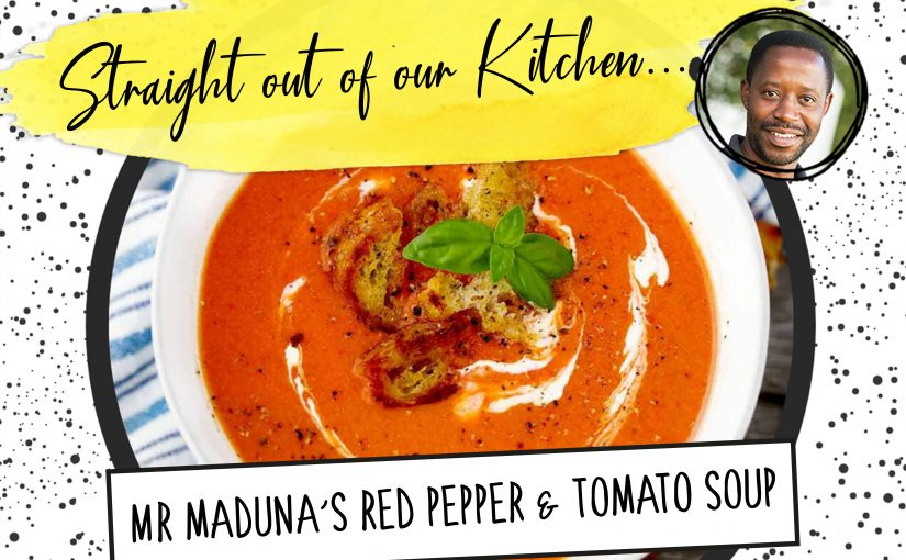 Recipe: Mr Maduna's Red Pepper and Tomato soup